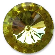 14mm YELLOW Round Acrylic Embellishment Gems